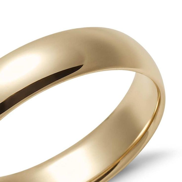 Comfortable Mid Weight Wedding band In 9k Yellow Gold (5mm) | The Diamond Channel, Johannesburg