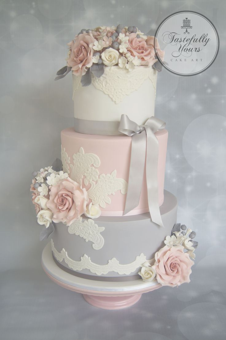 grey white and pink wedding cake 86 best tastefully yours cake images on 14986