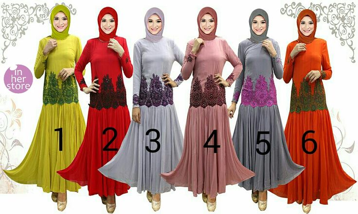 Gamis/Jubah by In Her Store Indonesia – Snada Series Material : Chiffon Cerutti Size : XS - S – M – L – XL Retail Price : Rp 400rb/pc Reseler Price : Rp 375rb/pc (min.3pcs, mix size & colours allowed) PIN : 75BD8849 Line : inherstore