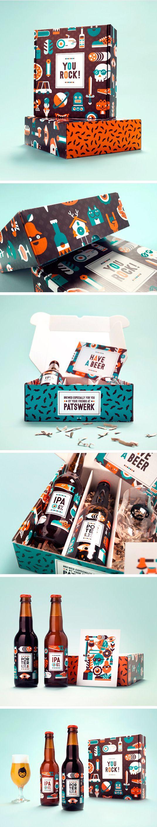 Patswerk Anniversary Beer. Sounds like 'password' to me. #packaging #bottle #design