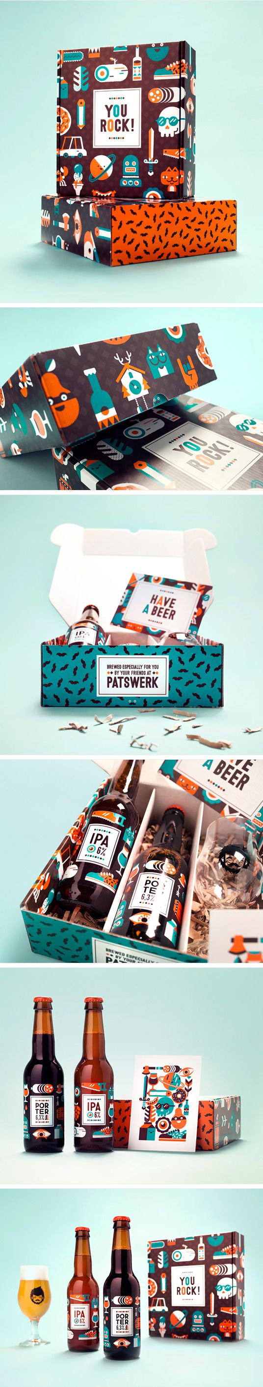 Patswerk Anniversary Beer. Sounds like 'password' to me. #packaging #bottle #design