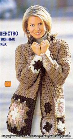 CROCHET SWEATER  |  This has a diagram. |  (Instructions in Italian.)