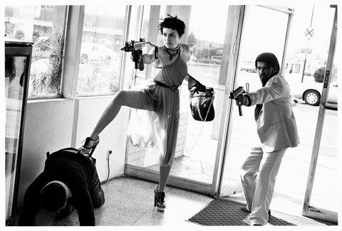 Sharon Stone et Anton Rivas par Thierry Le Goues