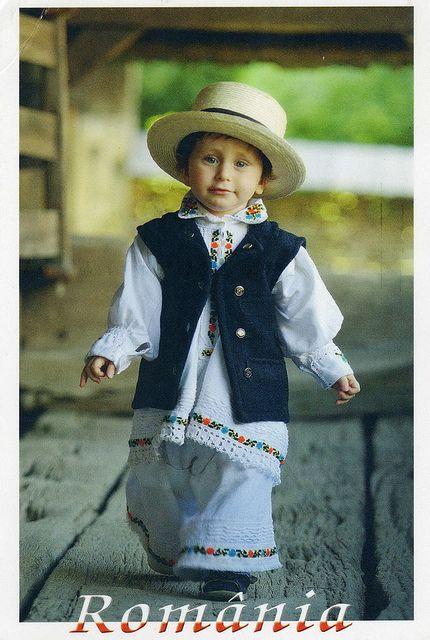 The boy dressed in Maramures costume, Maramures, Romania