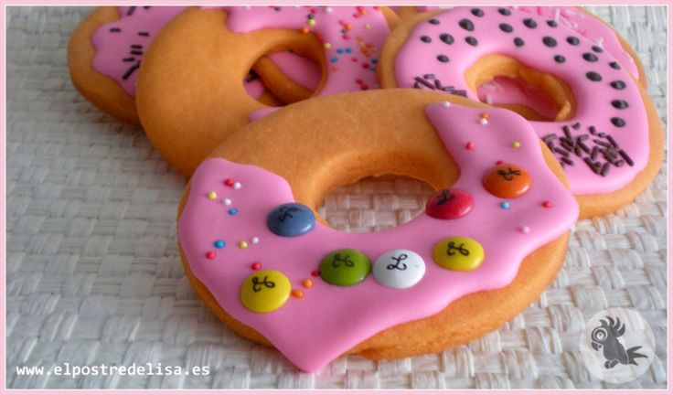 Galletas decoradas donuts  Donut cookies