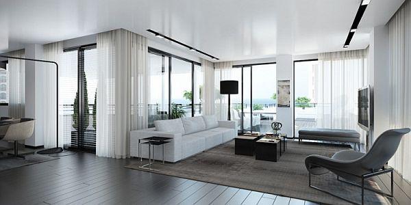 Gorgeous, Sleek Digital Interior by Ando Studio | Interiors, Bauhaus and  Bauhaus style
