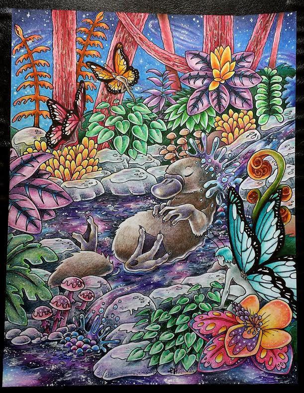 Elizabeth Mitchell winner of Platypus, drawing by Peta