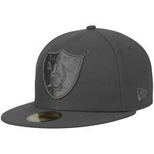 New Era Oakland Raiders Graphite Tonal League Basic 59FIFTY Fitted Hat