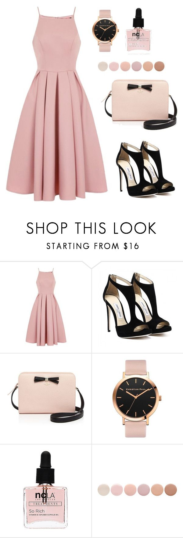 """#53 Casually Lovely"" by jocelynleebold ❤ liked on Polyvore featuring Chi Chi, Kate Spade, ncLA and Deborah Lippmann"