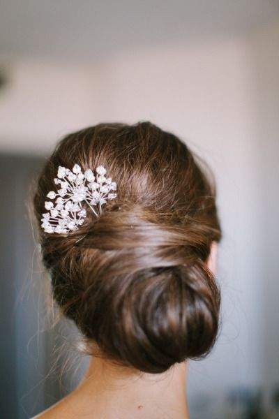 Updo with a pretty accessory https://www.etsy.com/shop/CleoandCesar