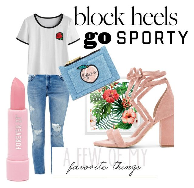 block heels by ashikagangwal on Polyvore featuring polyvore fashion style Ted Baker Raye Skinnydip Forever 21 clothing