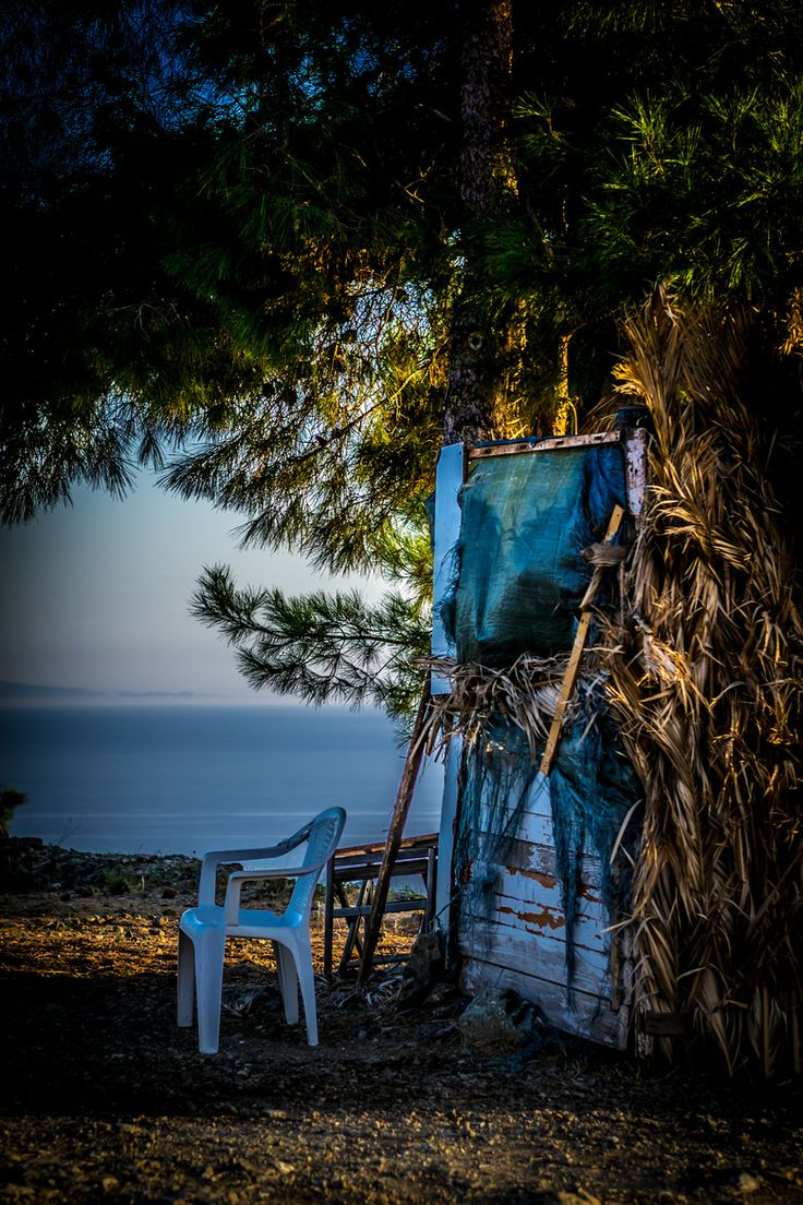 Chair by the Sea, Lesvos, Greece