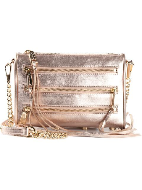 Rebecca Minkoff Rose Gold Mini 5-Zip Cross Body Bag