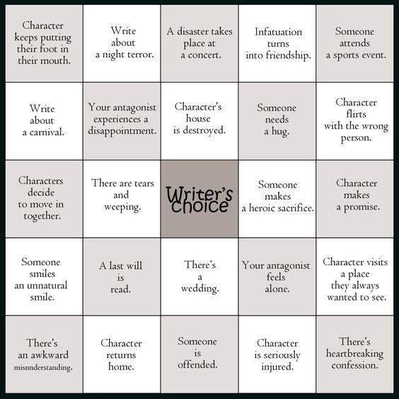 8 best make money online images on pinterest earn money online alloftheprompts writing prompt bingo a bingo card full of writing prompts if youd like to challenge yourself in fandeluxe Image collections