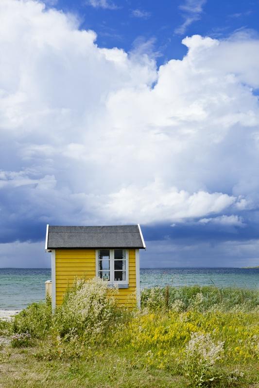 Ærø, Denmark - small houses on the beach.