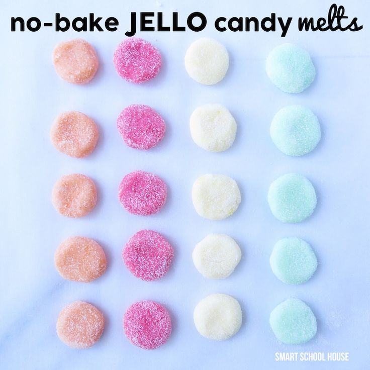 Today's recipe for Jello Candy Melts taste so yummy! These no-bake treats taste like your favorite Jello flavors and then melt in your mouth
