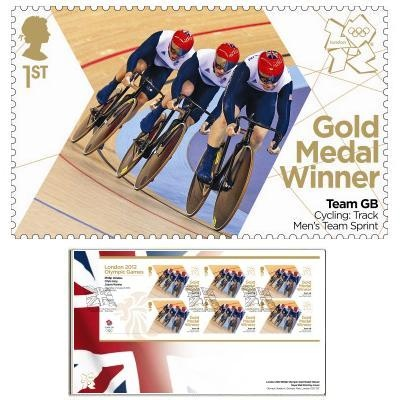 Large image of the Team GB Gold Medal Winner First Day Cover - Chris Hoy, Philip Hindes, Jason Kenny