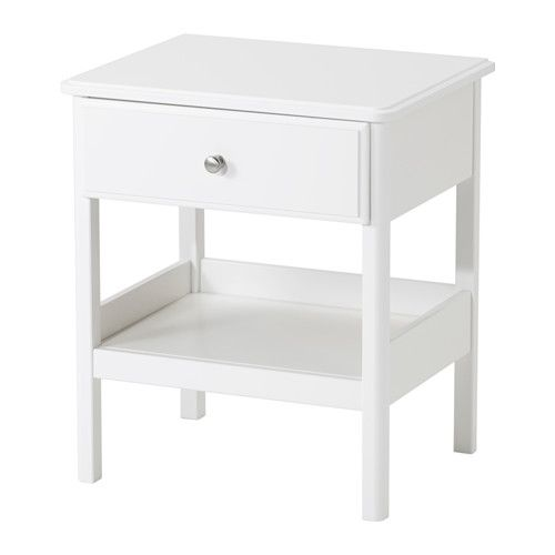 TYSSEDAL Nightstand IKEA Smooth running drawer with pull-out stop.  **nightstand for guest room**