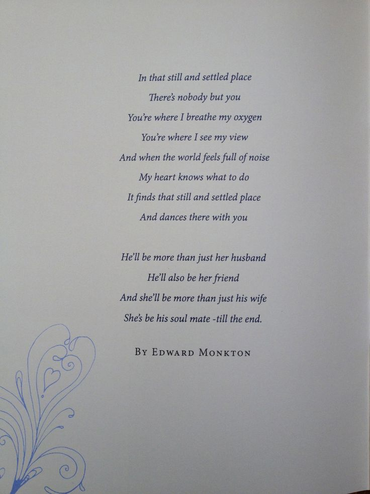 Wedding Reading Poem Simple And Beautiful If You Need A Minister Call Me At
