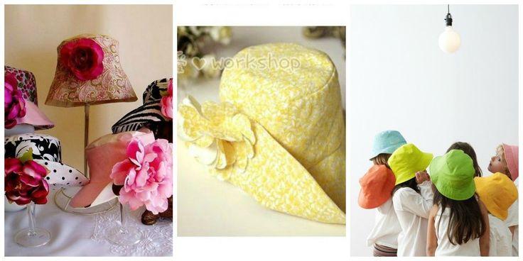 Cappelli estivi fai da te con cartamodelli. Vi segnalo dei tutorial davvero molto molto semplici con tanto di cartamodelli, con cui potrete cucire dei bellissimi cappelli di stoffa: cappelli cloche, cappelli a tesa larga e coloratissimi cappellini per bambini.