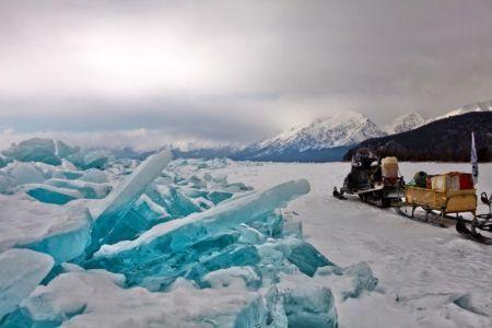 Snowmobiling in Baikal