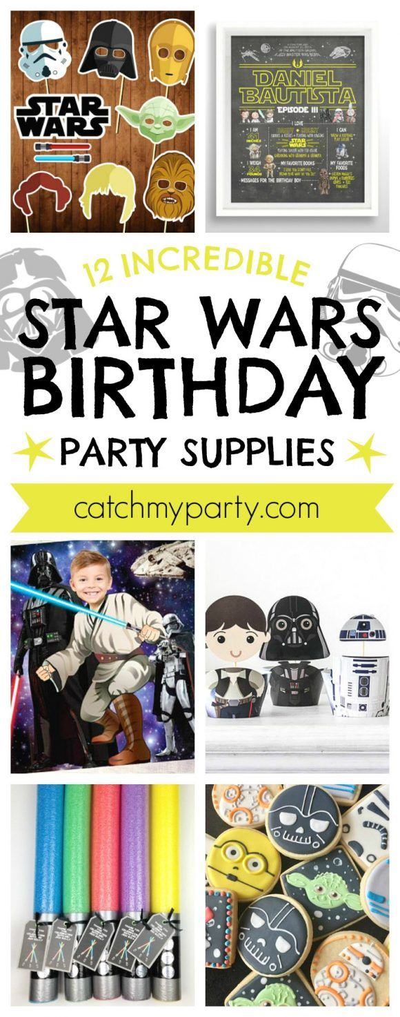 12 Incredible Star Wars Birthday Party Supplies |…