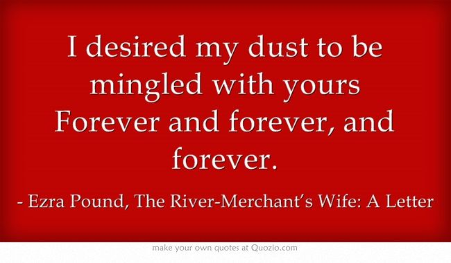 Discussion the river merchants wife a letter