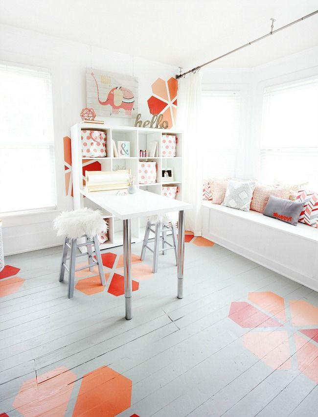 Before and After Imagination Craft Room Redesign - Thistlewood Farm