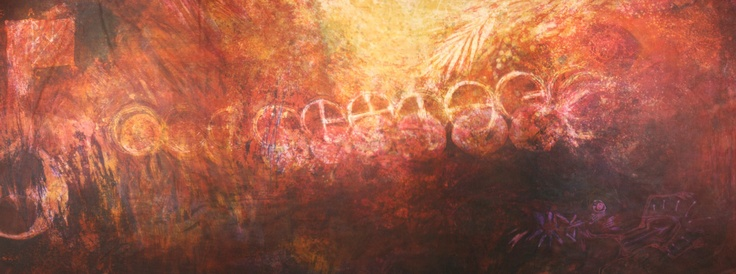 TANO.  APROACHING THE CORPUS HERMETICUM WITH NEW EYES / 2010 / 240cm x105cm / batik (napthol on primissima fabric)