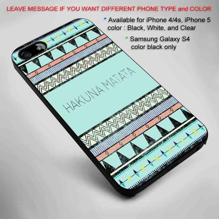 HAKUNA MATATA Tribal style iPhone 5 BLACK case