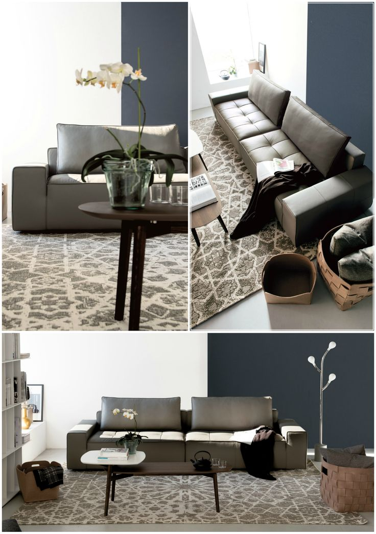 LOUNGE EASY is a simple yet elegant sectional sofa, with a rigorous design,  whose