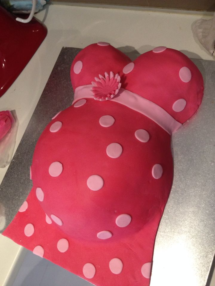Girl baby shower cake Baby bump
