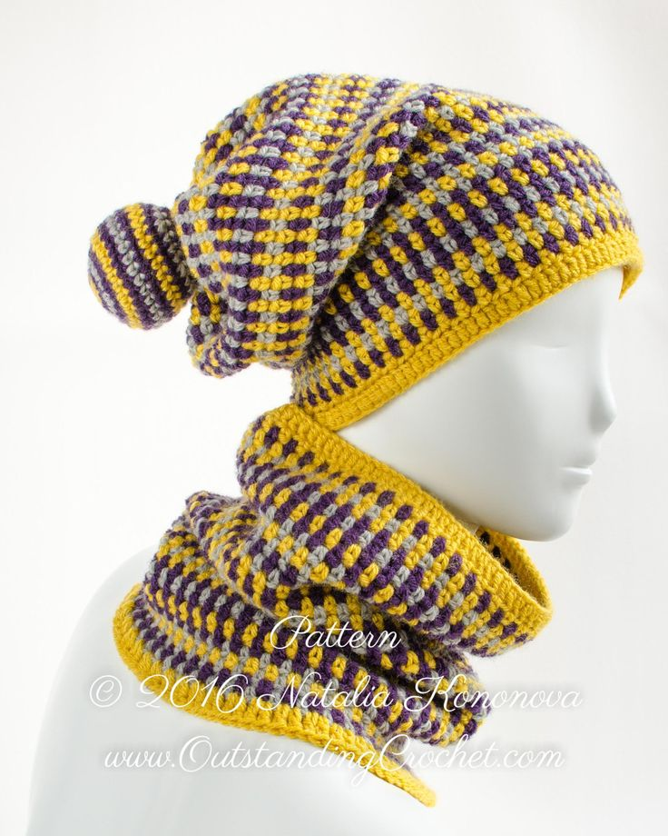 Crochet Hat Pattern - Crochet Cowl Scarf and Beanie Hat ...