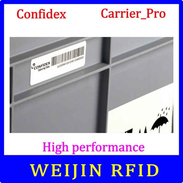 Confidex carrier Pro UHF RFID tag EPC C1G2 ISO18000-6C washable label with strong adhesive for plastic container