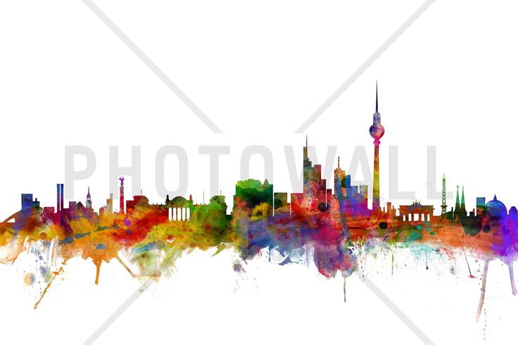 Berlin Skyline - Fototapeten & Tapeten - Photowall
