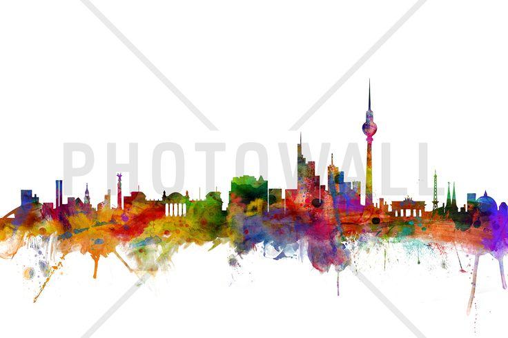 Berlin Skyline - Fototapeten & Tapeten - Photowall