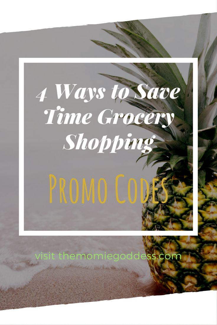4 Easy Ways to Save Time Grocery Shopping | themommiegoddess.com