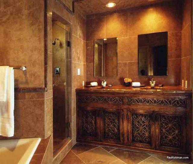 geraumiges bodenaufbau badezimmer holzbalkendecke am besten Bild der Fcfcdceaa Rustic Bathrooms Dream Bathrooms Jpg