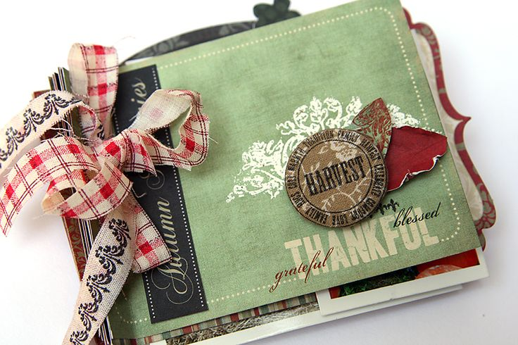 Thankful mini album *new Pink Paislee* - Scrapbook.com - Gorgeous for the fall season.