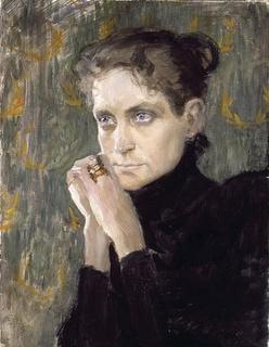Magnus Enckell (1870-1925) portrait d'Ida Aalberg