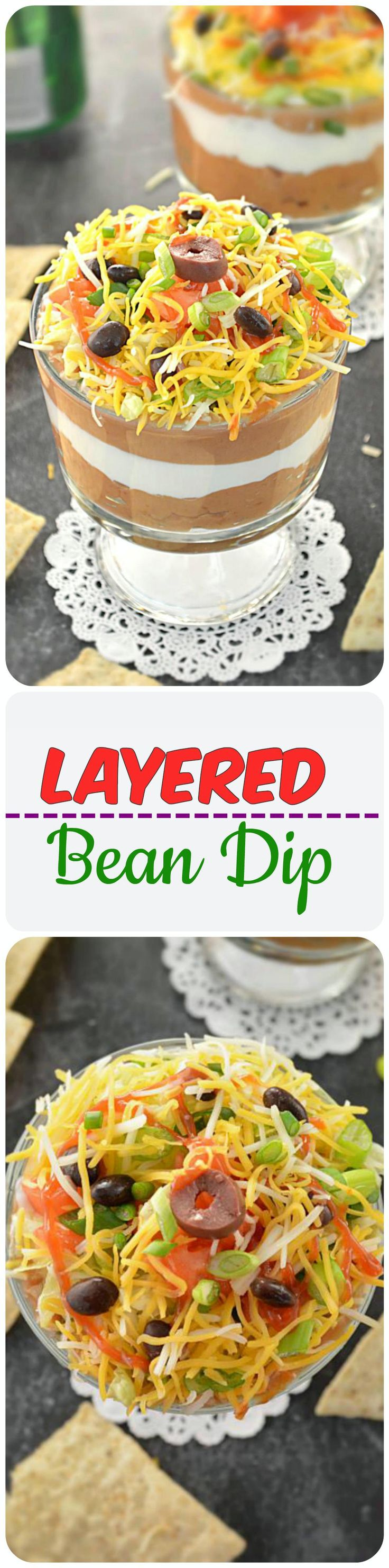 A perfect veggie bean dip for next dinner party or game day. An easy and delicious crowd pleaser recipe ready in 20 minutes! Bring it out to the table, grab a bag of Nachos/chips and see it disappear!!