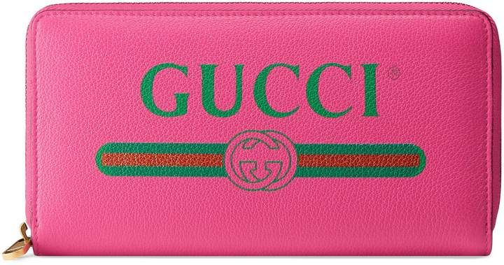d08fa686e410 Gucci Print leather zip around wallet#gucci #ShopStyle #MyShopStyle click  link for more information