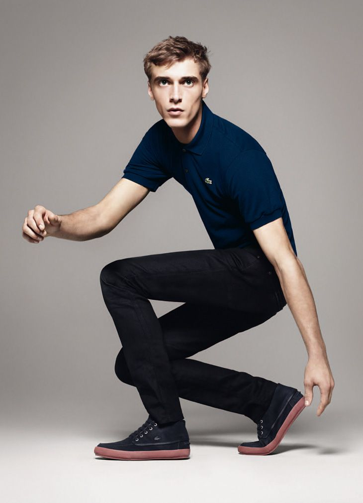 LACOSTE SS14 MODEL. CLEMENT CHABERNAUD PH. DAVID SIMS