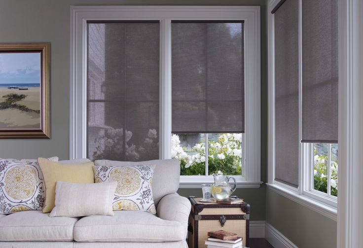 Clutch Control Roller Shades Are A Beautiful Window Covering Solution For This Contemporary