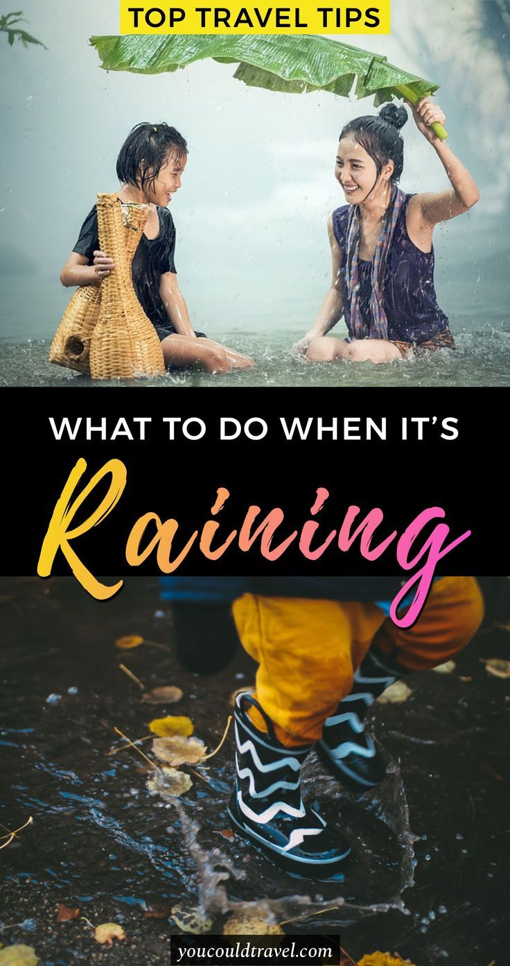 What to do when it's raining - Wondering what to do when it's raining? I don't know about you, but we live in the UK, a country which sees more rain than I could have ever imagined. More often than not, we had to postpone some activities, BBQ or garden tea parties because of the weather. Here is what to do when it's raining even when you are travelling. #raining #activities #travel