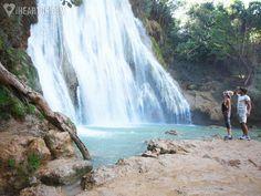 Couple admiring the Limon waterfall