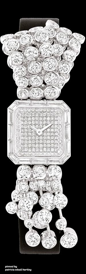 Chanel Watch in 18K white gold and diamonds.