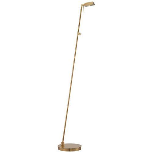 Honey Gold One-Light LED Pharmacy Floor Lamp