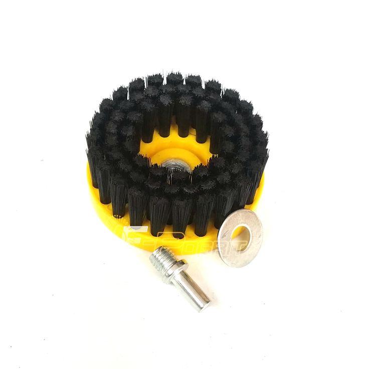 Dia. 110mm Nero Pulito Pennello utilizzato su Trapano Elettrico per gli interni delle Auto di Plastica In Pelle Mobili In Legno di Pulizia