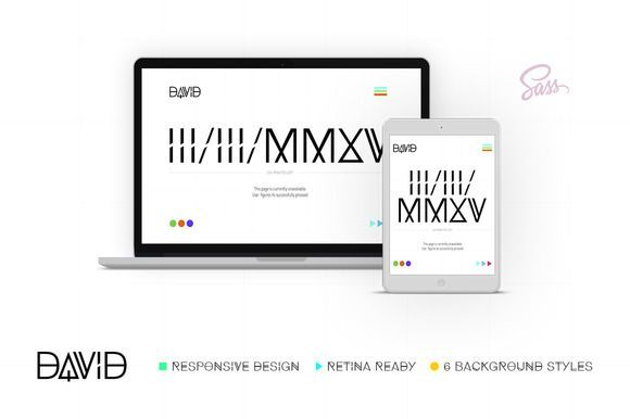nice David – Mini Site | Coming Soon CreativeWork247 - Fonts, Graphics, T...